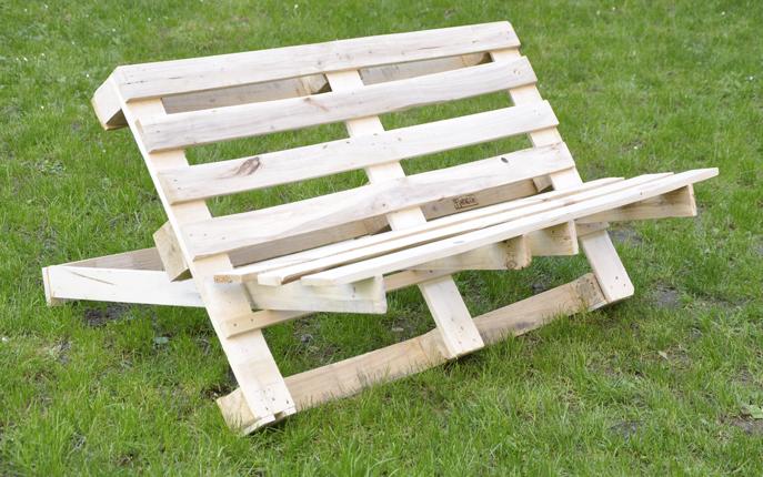 Super Tuinbank van pallets, houten bankje zelf maken. &TO05