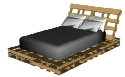 Bed Van Pallets : Bedden zelf maken pallets steigerhout en buizen
